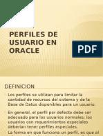 Perfiles en Oracle