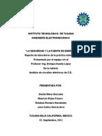 Segurida y Fuente de Energia. Daniel Mena