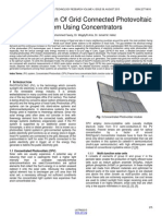 Optimum Design of Grid Connected Photovoltaic System Using Concentrators