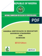 Nigeria Certificate in Education Science Programme