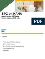 BPC 10 on HANA
