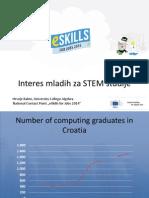 ESkills Croatia Interes Mladih Za STEM Studije
