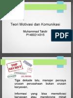 Presentasi Materi Motivasi dan Komunikasi