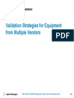 Validation Strategies for Equipment From Multiple Vendors