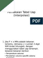 Pemakaian Tabel Uap