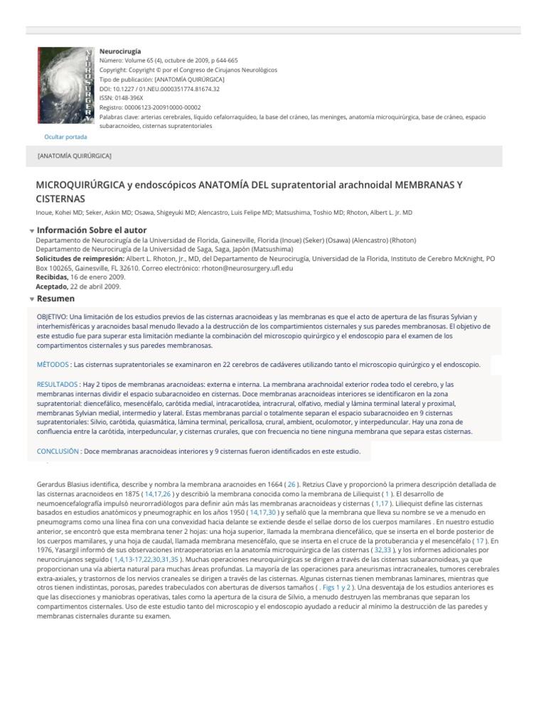 Ovidio_ MICROQUIRÚRGICA y Anatomía Endoscópica Del Supratentorial ...