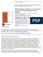 Validation of Vehicle Dynamics Simulation Models – a Review
