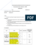 Strength of Materials Lesson Plan