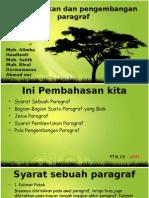 Bahasa Indonesia ( Pembentukan Dan Pengembangan Paragraf )