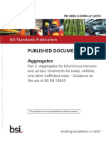 [PD 6682-2-2009+A1-2013] -- Aggregates. Aggregates for bituminous mixtures and surface treatments for roads, airfields and other trafficked areas. Guidance on the use of BS EN 13