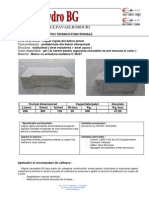 Capac Rigola Armat - Fisa de Caracteristici Tehnico-functionale