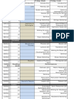 University Schedule Template