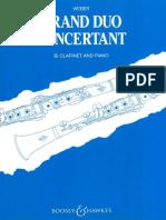 WEBER, C. M. - Gran Duo Concertant (Clarinete y Piano - Op. 48)