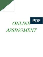 Online Assignment