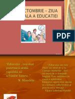 Ziua Mondiala a Educatiei5 Octombrie 2015
