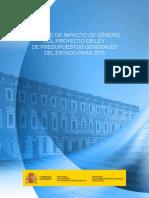 Informe de Impacto de Genero 2015
