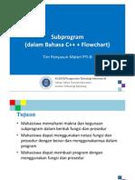KU1072 Subprogram CPP Flowchart 220915