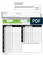 Fichas de Inscripción - 2015
