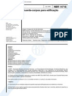 NBR 14718 Guarda-Corpos Edificacoes