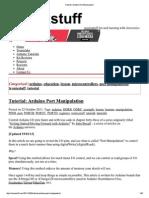 Arduino Port Manipulation