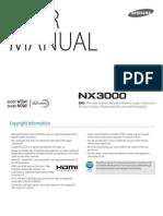 Samsung NX3000 English manual