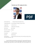 Biodata Cristiano Ronaldo Atau CR7 Lengkap Dan Baru Syazwan