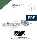 Clasif. de Cargos - Adm. Púb.