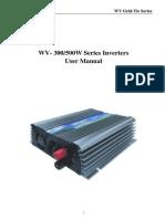 WV Series User Manual