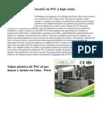 producción de un tacatá en PVC a bajo costo.