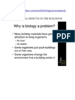 Biological Defects on the Buildings