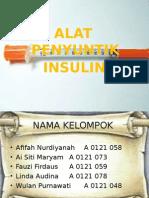 Alat Penyuntik Insulin Persentasi