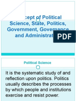 Concept of Political Science State Politics