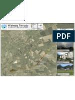 Waimates Tornado Path Map