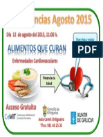 Anuncio Conferencias Agosto 2015