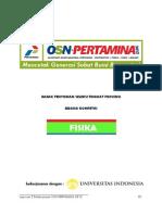 Soal Seleksi Fisika OSN Pertamina 2012