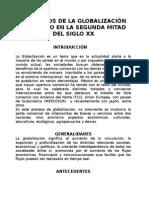 Efectos de La Globalizacion en Mexico en La Segunda Mitad Del Siglo Xx