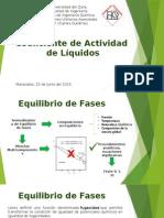 Coeficiente de Actividad de Liquidos