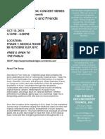 Two Bridges Music Concert Warp Trio