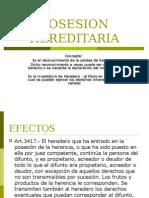 POSESION HEREDITARIA