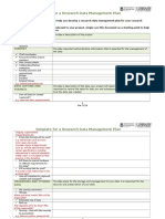 Checklist Template for a Research Data Management UQlibrary