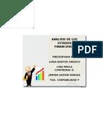 Analisis de Los Estados Financieros Lina p Contreras