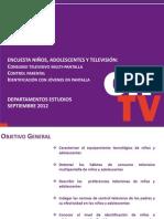 Encuesta Niños, adolescenets y televisión Chile
