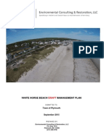 White Horse Beach Management Plan Draft of September 1, 2015