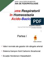 Mecanisme Respiratorii in Echilibrul Acido-bazic