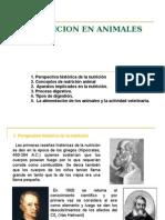 LA NUTRICION EN ANIMALES