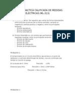 Primera Practica Calificada de Medidas Electricas
