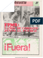 EL RODRIGUISTA (FPMR-PC) N° 11 [1985, Diciembre]