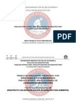 Tesis Umg Analisis Estructura Para Estudiantes de Arq.