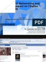 Social Networking and Its Impact on Filipino Youth - Dr. Lenardo R. Garcia, Jr. CPM