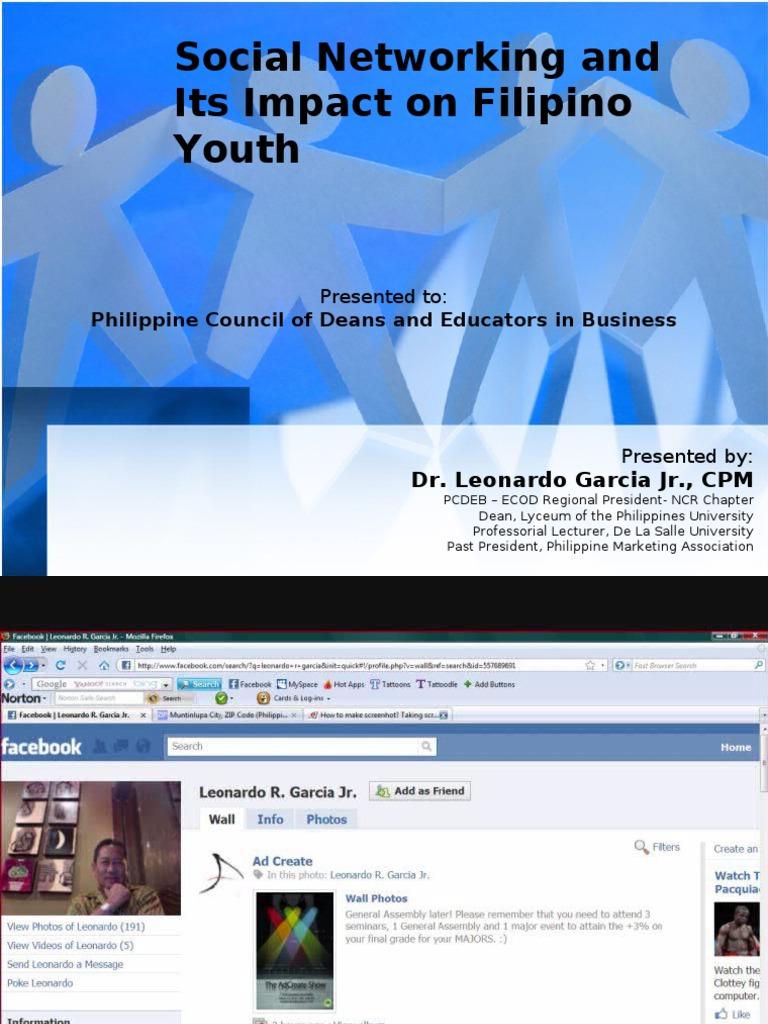 social networking thesis tagalog Thesis title social networking sites isang pagaaral tungkol sa epekto ng social networking bilang public property sa mga magaaral ng pamantasan ng.